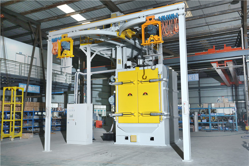 Overhead Rail Spinner Hanger Hook Type Shot Blasting Machine