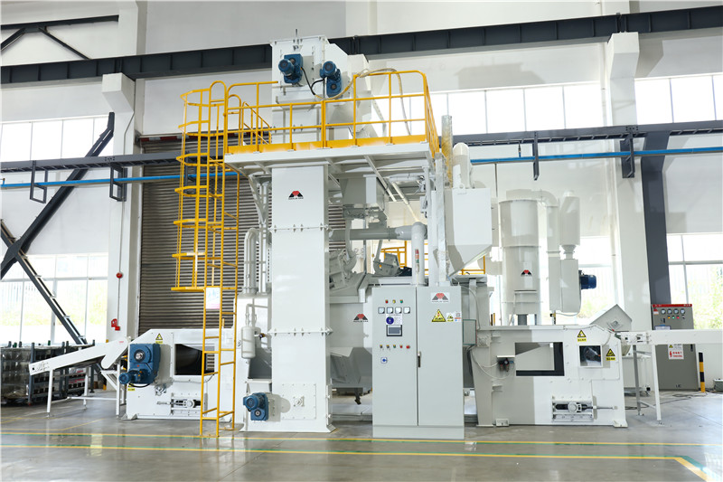 Application case of wie mesh belt shot blasting machine used inautomobile motor electric spray system
