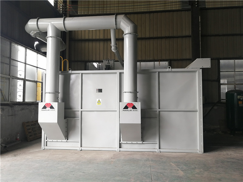 Automatic Sand Blasting Room MSA502530-280L1-2 Is Used For Steel Industry